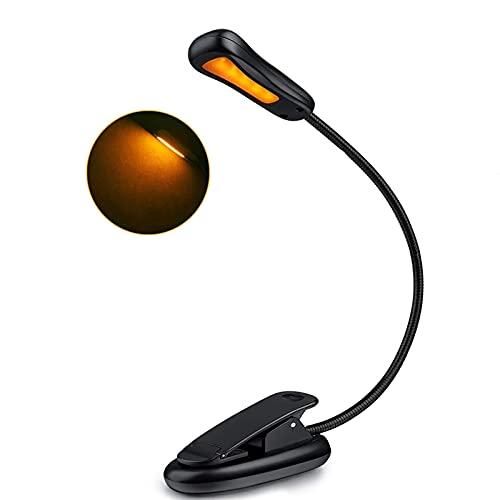 WBYY Lámpara de Escritorio LED con Abrazadera, lámpara de Mesa de cariño Ocular, lámpara de Oficina Regulable con Puerto de Carga USB
