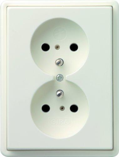 Gira 079540 dubbel stopcontact grondpen kinderbeveiliging S, zuiver wit