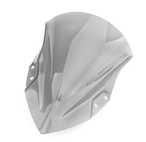Hjunisshkm Motorcycle Windshield ABS Plastic Plastic Acessories Fundas para Kawasaki 2018 Ninja 250/400 HFDYJ (Color : Gray)