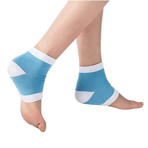 AGIA TEX Germany Fersensporn-Bandage - mit unsichtbarem Gelpolster als Fersenschoner Blau 1 Paar