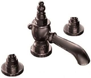 Jado 845/B20/105 Savina Widespread Lavatory Faucet, Old Bronze LESS HANDLES