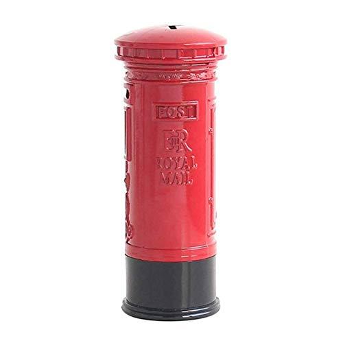 Kassa MYKK Metal Britain London Street Rode brievenbus/telefooncel Spaarpot voor decoratie of cadeau 6X18cm brievenbus