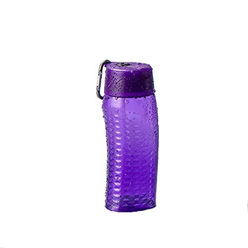 550 ml de gran capacidad para estudiantes deportes taza de agua de color sólido creativo portátil para niños taza de plástico sellada a prueba de fugas taza de agua (púrpura)