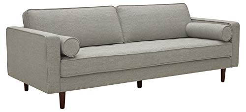 Amazon Brand – Rivet Aiden Mid-Century Sofa with Tapered Wood Legs, 87'W, Light Grey