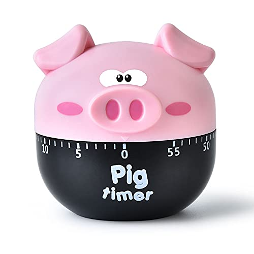 Cooking Timers Manual Cute Accessories Pink Pig for Kitchen and Kids Study Utensil 60 Minute 360 Degree Clock Counters