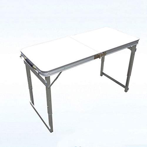 ZR La Mejor Mesa de Aluminio portátil de Best Choice Products, Silla Plegable al Aire Libre Plegable, Cocina al Aire Libre, Picnic con Bolsa de Asas - Azul (Color : Blanco)