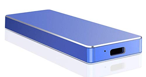 1 TB 2 TB External Hard Drive Typ C Portable Hard Drive External HDD kompatibel für Mac Laptop und PC (2TB-A Blue)