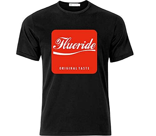 Fluoride Taste Anti Social Engineering Conspiracy T Shirt Black Black XL