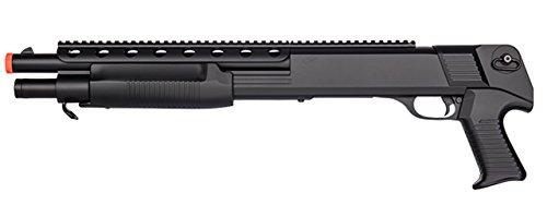 Double Eagle Pump Action Pistol Grip CQB Spring Airsoft Shotgun FPS 445