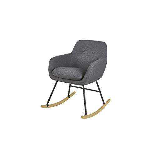 JENS schommelstoel Schommelstoel - antraciet grijze stof - Scandinavisch - B 63 x D 75 cm