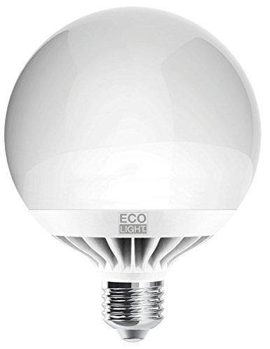 Century Globo LED, Attacco E27, 15 W, 3000 K, 1300 Lm, Bianco