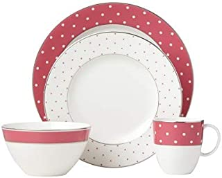 Lenox Kate Spade New York Pink & Platinum Polka Dots 4-Piece Place Setting New in box