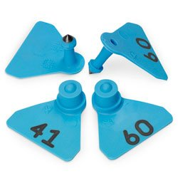 Allflex Numbered 41-60 Sheep Large-scale sale Mini Complete Free Shipping Tags N - C31215 C Blue