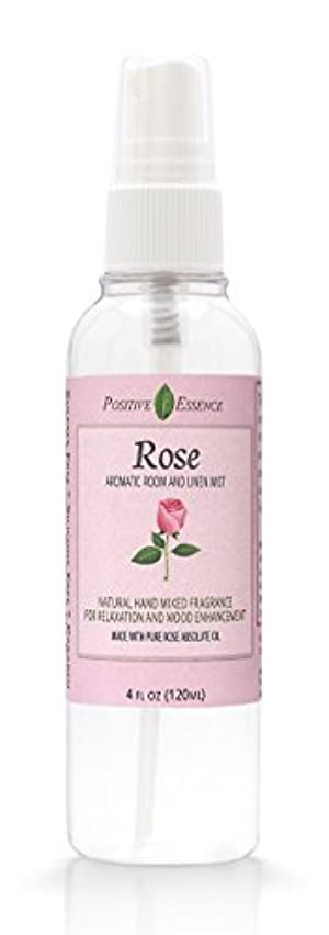 Positive Essence Rose Room & Linen Spray - Natural Aromatic Mist Made with Pure ROSA MULTIFLORA Essential Oil - Relax Your Body & Mind – Perfect as a Bathroom Air Freshener Odor Eliminator