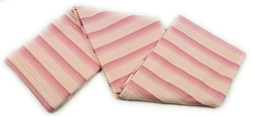 Aga's Own - Manta para sofá o cama (230 x 250 cm, 100% algodón), diseño de rayas pastel