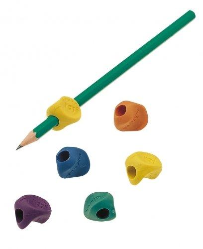 JPC Lot de 6 Grippies Aide écriture (Guide doigt) Grip coloris aléatoire
