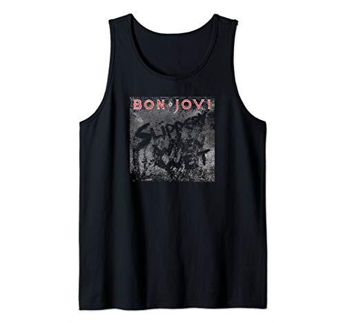 Bon Jovi Slippery When Wet Tank Top for Men, Women