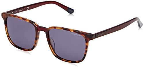 Gant unisex-volwassenen GA7111 zonnebril, bruin (Red Havana/Smoke Mirror), 54