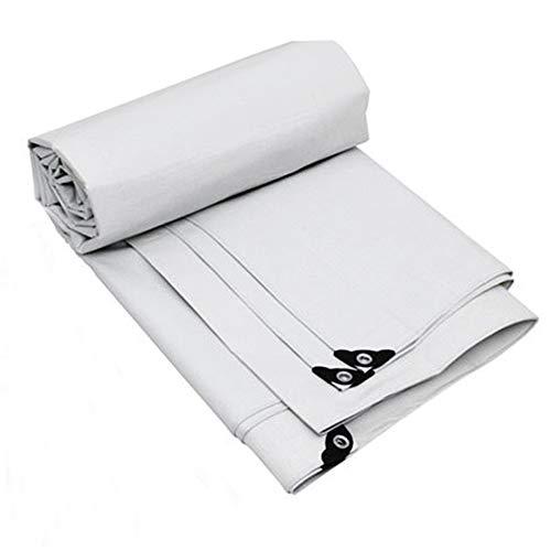 ZZHF pengbu Bâche, Camion imperméable de Carte de Tissu d'ombre de Protection Solaire Plus bâche épaisse de Toile (Couleur : Double White, Taille : 1.5m*2m)