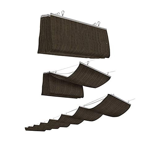 XYUfly20 Dosel De Alambres De Acero para Deslizamientos De Tierra Parasol De Techo Claustro Forma De U Sobresaliente, Resistente Al Agua Fácil De Limpiar, Sin Moho. (Color : Brown, Tamaño : 1.3x5m)
