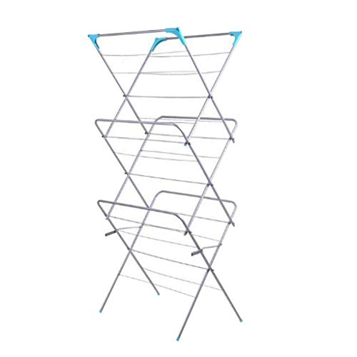 Ruidigrace 3 Fold Air Clothes Rack Balcony to Be Born 3 La-yers Towel Rack Can Receive