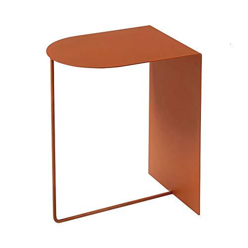 GZQDX Mesa de café redonda nórdica simple dorado mesa de café escritorio sala minimalista cama hierro pequeña mesa sofá estante