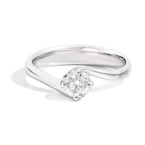 Anello Recarlo Solitario Valentin Modello Anniversary Diamante Naturale Oro 18kt Donna R01SO195