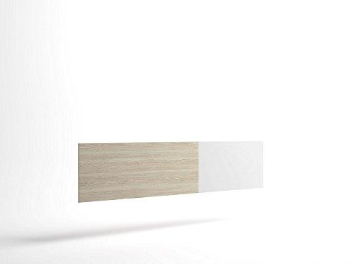 LIQUIDATODO ® - Cabecero para cama de matrimonio de 208cm moderno y barato color Sable y Blanco