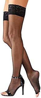 Orion Strümpfe-25205831611 Calcetines de vestir, Schwarz, 4 para Mujer
