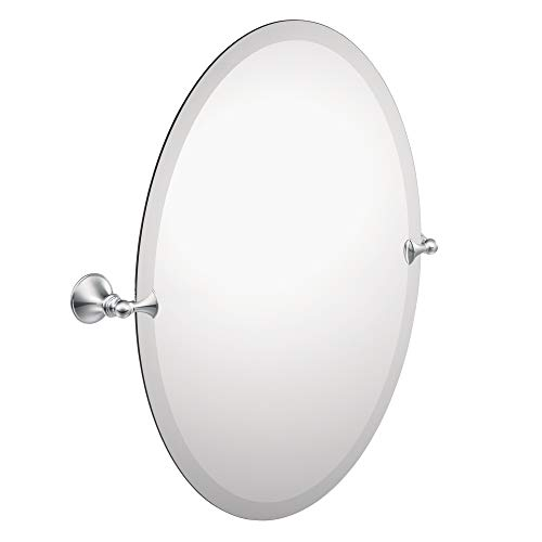Moen DN2692CH Glenshire 26 x 22-Inch Frameless Pivoting Bathroom Tilting Mirror, -
