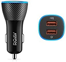 Roav SmartCharge Spectrum, by Anker, 30W Dual USB Car Charger with Quick Charge 3.0, for iPhone X/8/7/6s/Plus, iPad Pro/Air 2/Mini, Galaxy S8+/S8/S7/S6/Edge/Plus, Note 8/5/4, LG, Nexus, HTC, and More