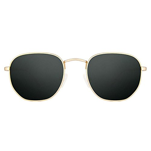 Maltessa Soho Gafas de sol, Verde Oscuro, 52 Unisex