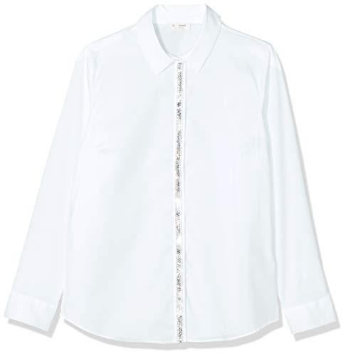 rich&royal Damska bawełniana bluzka z brokatem, biały (White 100), 40 PL