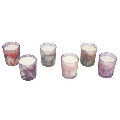 Fdit1 Fdit Aromaterapia Velas Perfumadas Velas de Boda Románticas Soportes de Vidrio (6 Unids)