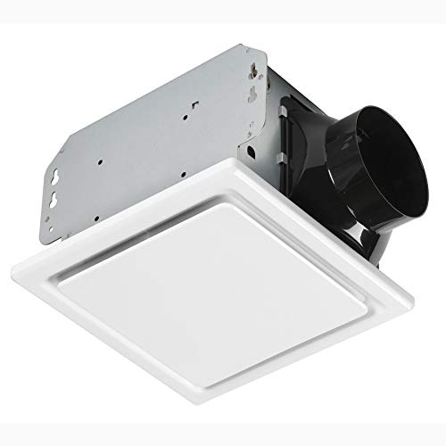 Homewerks Worldwide 7140-50 Bathroom Fan Ceiling Mount Exhaust Ventilation 1.0 Sones 50 CFM, White