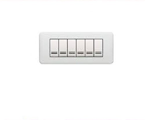 LEGRAND 680559 PLACCA CROSS ABS GHIACCIO 6 MODULI
