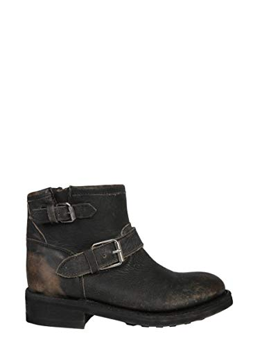 Ash Luxury Fashion Femme TRICKSTONEWASHCALBLACK Noir Cuir Bottines | Saison Outlet