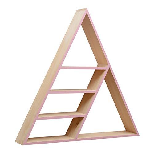 WXQIANG Estantería de esquina triangular flotante de 4 niveles, montado en la pared, estante de madera triangular, estante piramidal, moderno, duradero y protector (color: blanco)