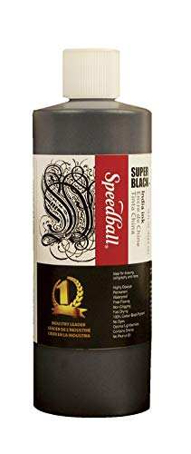 Speedball Super Black India Ink, 1 Pint - 404696
