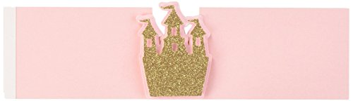 All About Details NHOPRSSSPG Light Pink & Gold Princess Theme Napkin Holders, Set of 12, 2' in Width, 7in Long