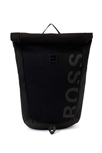 BOSS Herren Knit214 Backpack Gestrickter Logo-Rucksack aus recyceltem Gewebe mit Repreve®-Garnen Größe One Size