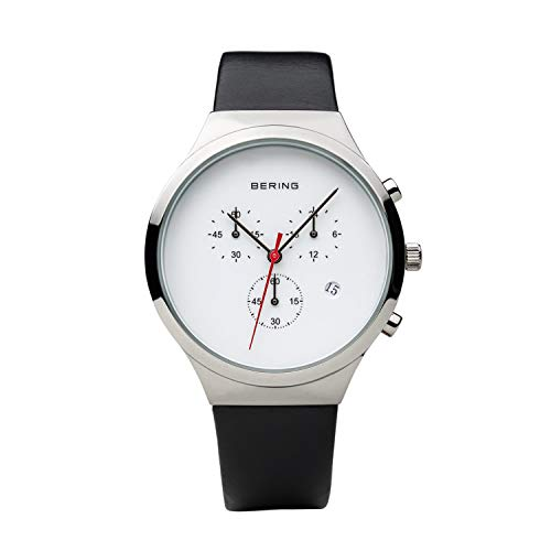 Bering Herren Chronograph Quarz Uhr mit Leder Armband 14736-404
