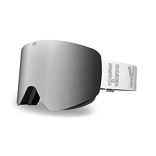 HYSTERESIS ILLICIT Magnet Aconcagua White - Pack Gafas De Esquí con Lentes Magnéticas Intercambiambles (2 Lentes Incluidas)
