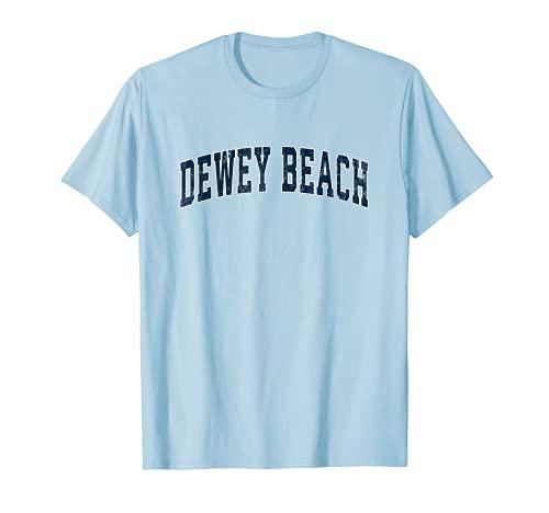 Dewey Beach デラウェア DE ヴィンテージ スポーツデザイン ネイビー デザイン Tシャツ