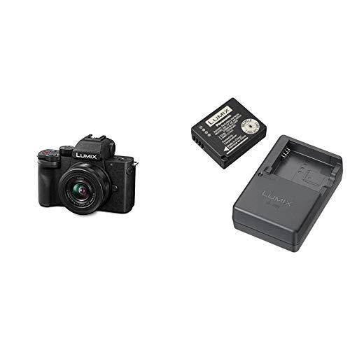 Panasonic LUMIX G100|4k Camera| Mirrorless Camera |Vlogging Camera | Micro Four Thirds 4K 24p 30p Video(Black) with DMW-ZSTRV Lumix Battery & External Charger Travel Pack, Black