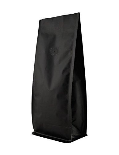Best Price BAP 16 oz Matte Black Block Bottom Side Gusseted Bag with Valve (500 pcs)