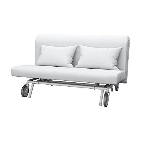 Soferia - IKEA PS Funda para sofá Cama de 2 plazas, Elegance White