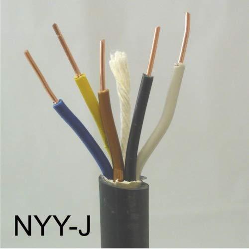 deutsche Markenware Wask/önig-Walter RAL7035 Elektro Mantelleitung NYM-J 5x2,5 50m Ring VDE Mantelfarbe Grau