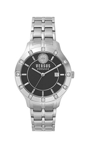 Versus by Versace Damen Analog Quarz Uhr mit Edelstahl Armband VSP460118