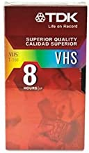 TDK VHS T-160 8 Hours 7 Pack